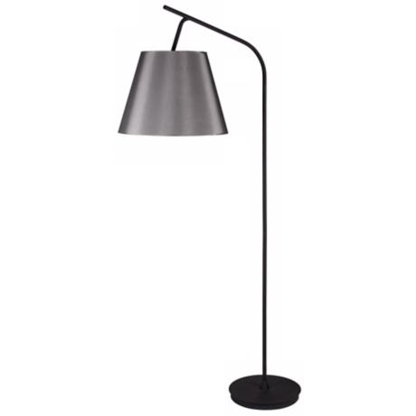 Lights Up! Walker Platinum Silk Glow Shade Floor Lamp