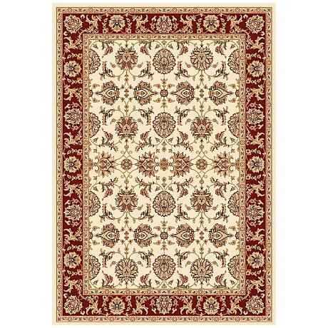 Surrey Collection Medallion Crest Light Area Rug