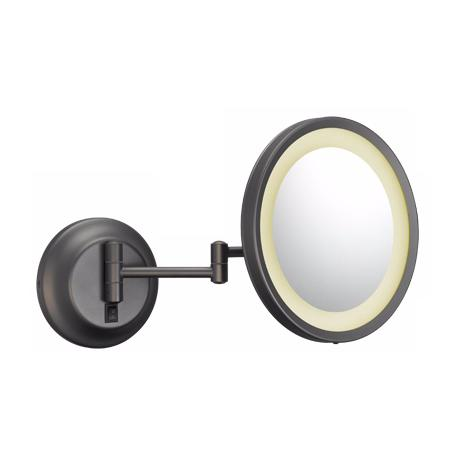 Single-Sided LED Round 5x Wall Mirror