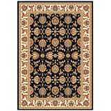 Surrey Collection Medallion Crest Dark Area Rug