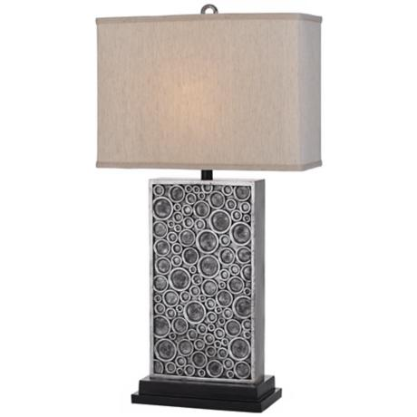 Horizon Holes Hand-Crafted Silver Table Lamp
