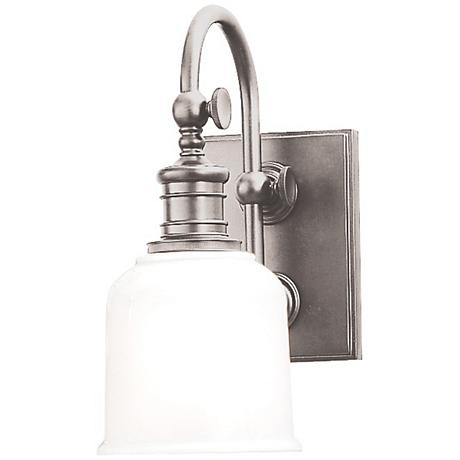 "Hudson Valley Keswick 11"" High Satin Nickel Wall Sconce"