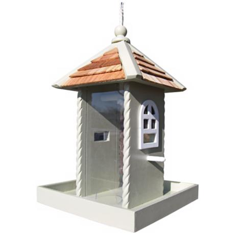 Green Nestling Bird Feeder