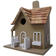 Little Retreat Taupe Birdhouse