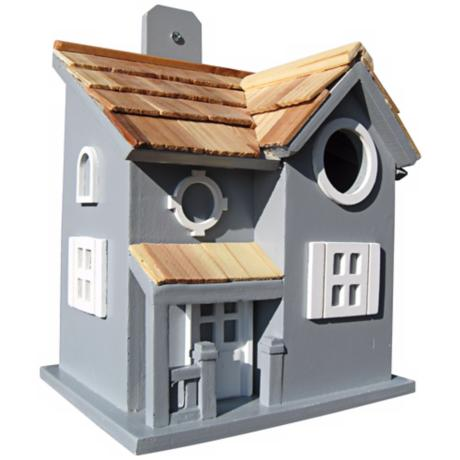 Nestling Cottage Blue Birdhouse