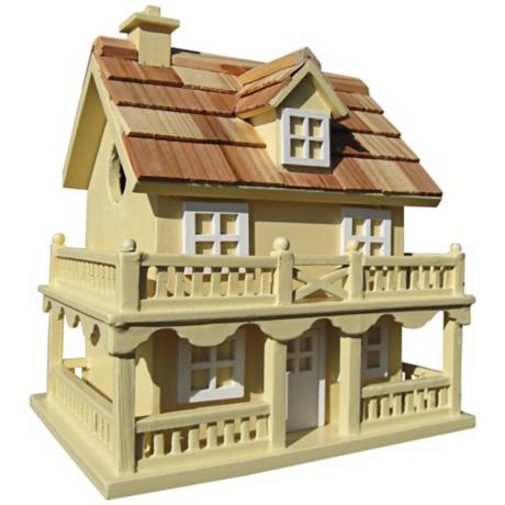 Colonial Cottage Yellow Birdhouse