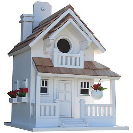 Backyard Bird Cottage White Birdhouse