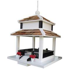 Backyard Bird Cottage White Bird Feeder