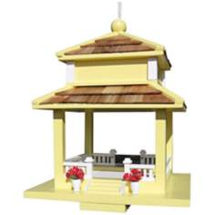 Backyard Bird Cottage Yellow Gazebo Bird Feeder