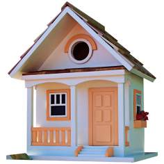 Forest Bungalow Cottage Peaches & Cream Birdhouse