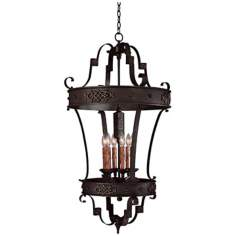 River Crest Rustic Iron Finish 6-Light Foyer Chandelier