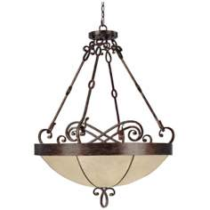 "Reserve Collection Rustic Finish 33 3/4"" Wide Pendant Light"