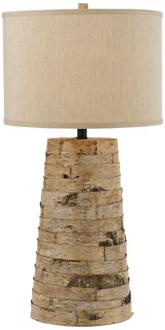 Horizon Birch Bark Natural Linen Table Lamp
