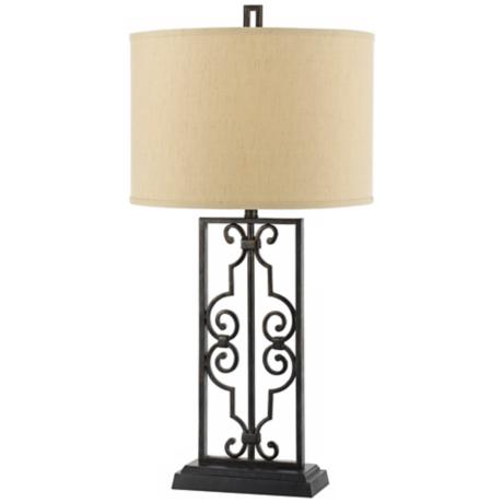 Horizon Maya Hand-Crafted Forged Iron Table Lamp
