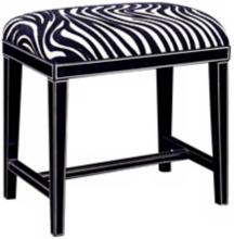 Zebra Faux Leather  Cosmo Bench