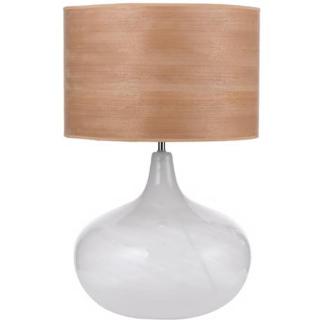 Horizon Hand-Blown Swirl Glass Table Lamp