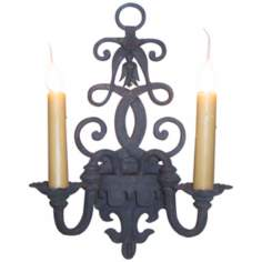 "Laura Lee Fleur De Lis 2-Light 18"" High Wall Sconce"