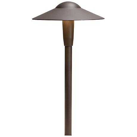 "Kichler Landscape 16""H 3000K LED Bronze Dome Path Light"