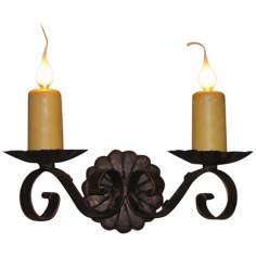 "Laura Lee Louisiana 2-Light 14"" Wide Wall Sconce"