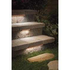 Kichler Copper 3-LED Hardscape Deck Step and Bench Light