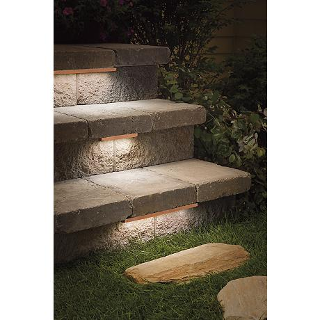 kichler bronze 6 led hardscape deck step and bench light