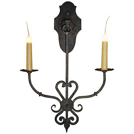 "Laura Lee Jasmine 2-Light 29"" High Wall Sconce"