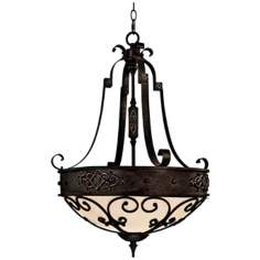 River Crest Rustic Iron Finish 3-Light Pendant Chandelier