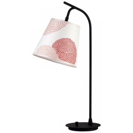 Lights Up! Red Mumm Shade Walker Table Lamp