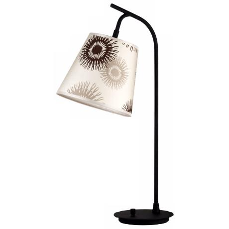 Lights Up! Tan Cornflower Shade Walker Table Lamp