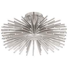 Contemporary Brushed Nickel 75-LED Semi-Flush Ceiling Light