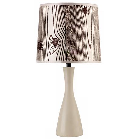 Lights Up! Faux Bois Shade Soy Finish Oscar Table Lamp
