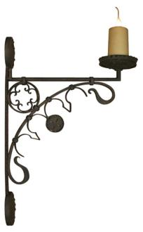 "Laura Lee Medieval 29"" High Wall Sconce (T3572)"