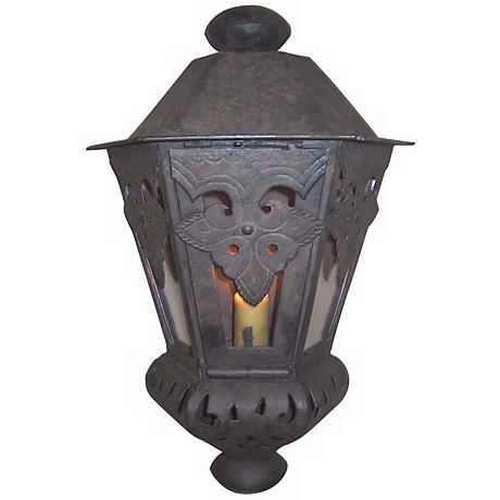 "Laura Lee Morocco Large 18 1/2"" H Half Wall Outdoor Lantern"