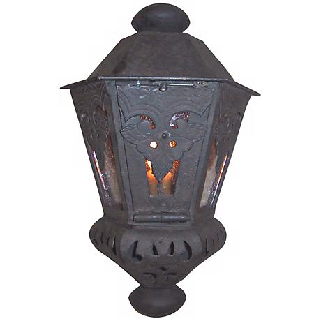 "Laura Lee Morocco Small 15"" High Half Wall Outdoor  Lantern"