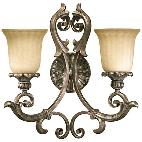 "Quorum Barcelona 17 3/4"" High Silver 2-Light Wall Sconce"