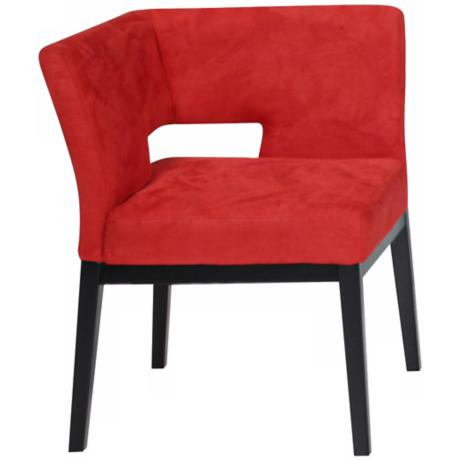 Fire Engine Red Microfiber Corner Chair