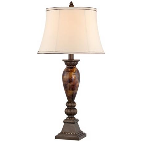 "Kathy Ireland Home Mulholland 33"" Marbleized Table Lamp"