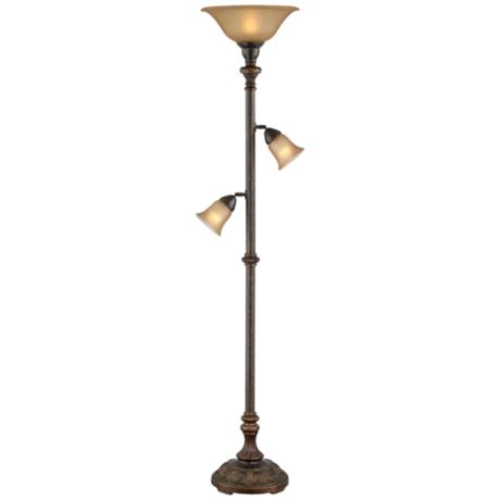 Italian Bronze 3-in-1™ Torchiere Floor Lamp