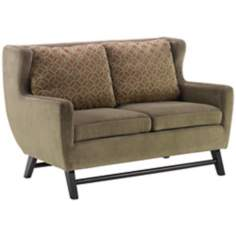 Midtown Mellow Green Love Seat