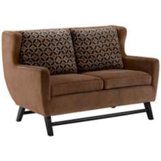 Midtown Chocolate Java Love Seat