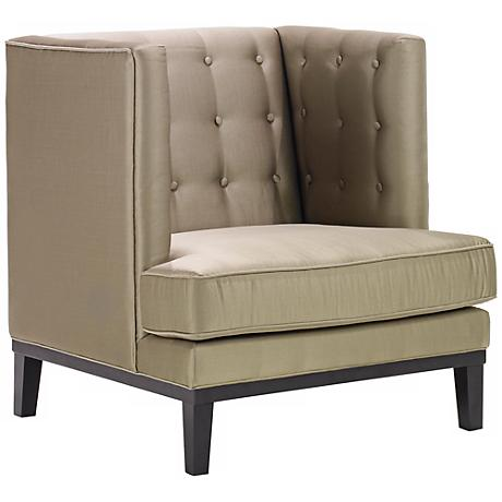 Noho Collection Champagne Satin Club Chair
