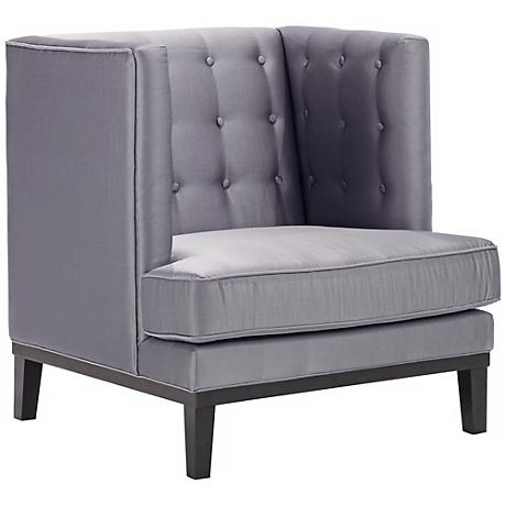 Noho Collection Silver Satin Club Chair