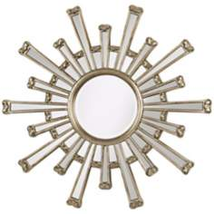"Cameron Sunburst Silver Finish 36"" Wide Wall Mirror"