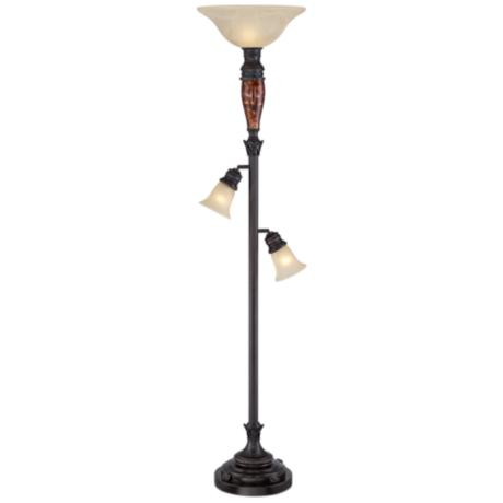 Tortoise Shell Tree Torchiere Floor Lamp