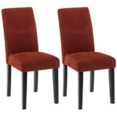 Set of Two Versa Dining Chairs-Pimento