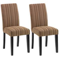 Set of Two Versa  Dining Chairs - Ribbon Pattern