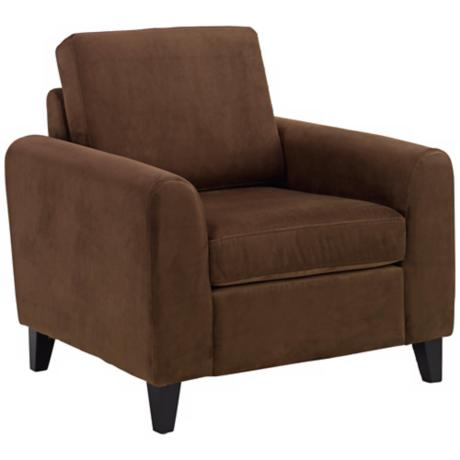 Marietta Chocolate Velvet Club Chair