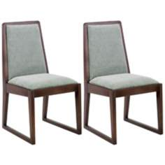 Set of 2 Oblique Collection Lagoon Side Chairs
