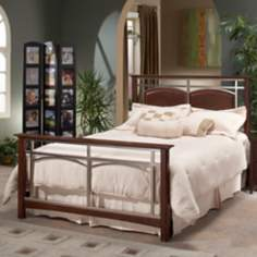 Hillsdale Banyan Espresso and Nickel Bed