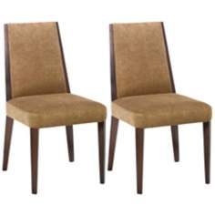 Set of 2 Neo Collection Tobacco Side Chairs